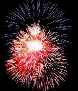 Feuerwerk in Brandenburg