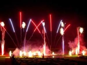 Feuerwerk mit Musik in Brandenburg